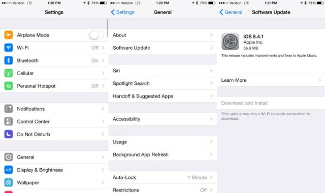 Install iOS 8.4.1