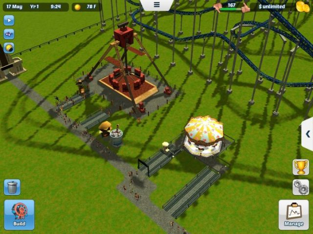 how to build a house in roller coaster tycoon 3