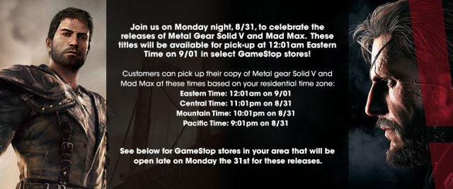 Mad Max release date Xbox One PS4