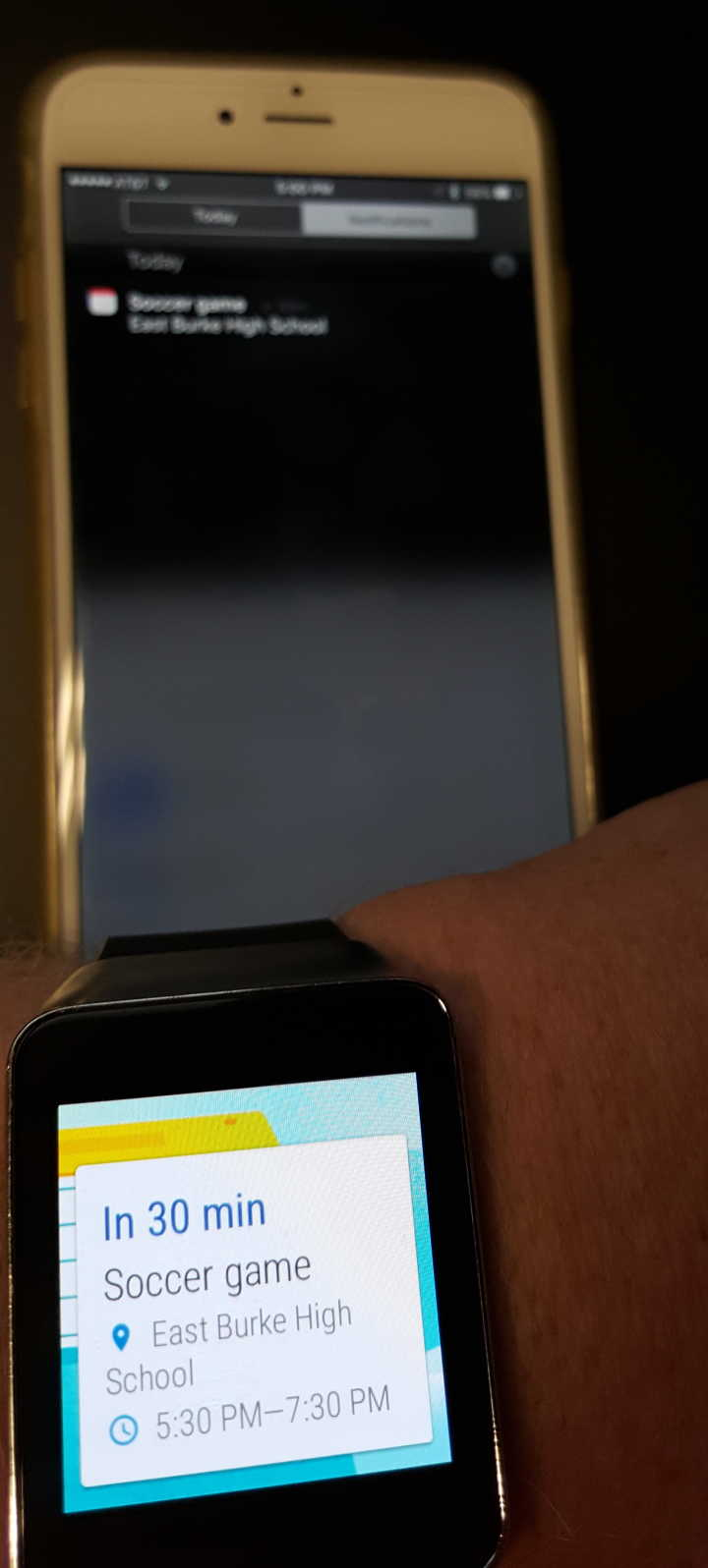 iphone notification on android wear