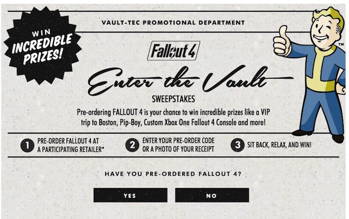 Fallout 4 Contests & Fallout 4 Loot Crate