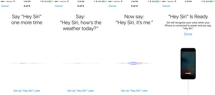 Personalize Siri in iOS 9 with Hey Siri training.