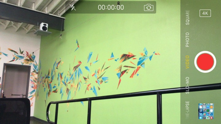 Record 4K video iPhone 6s