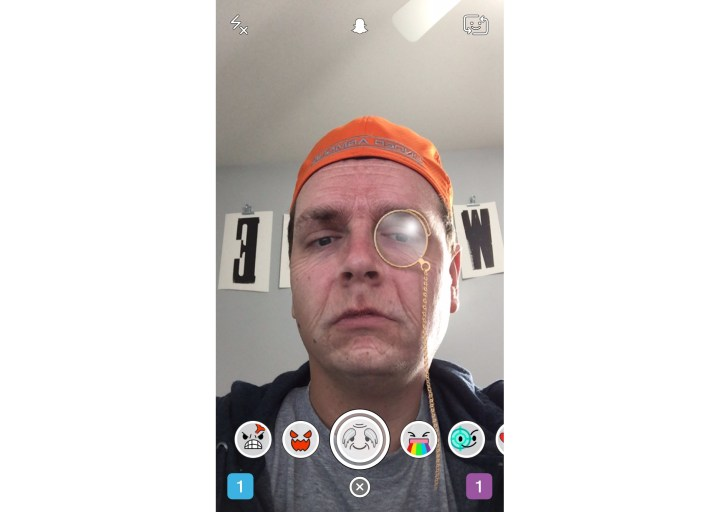 Old Snapchat Lens with Monocle