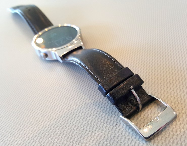 hawei watch black leather band