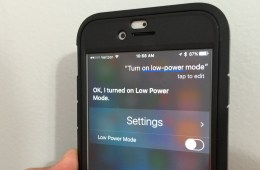 Use Siri to turn on Low Power Mode manually in iOS 9.
