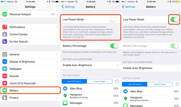 Make your battery last longer with Low Power Mode on iOS 9.
