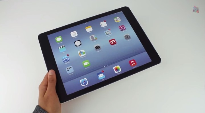 Above: a mockup of the rumored iPad Pro.