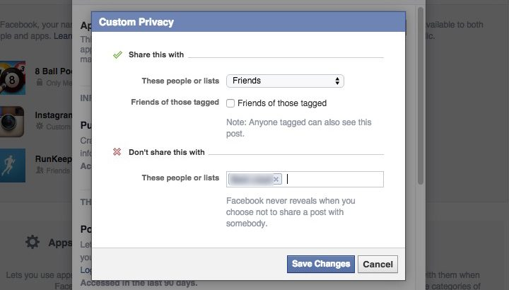 how to change view settings in facebook