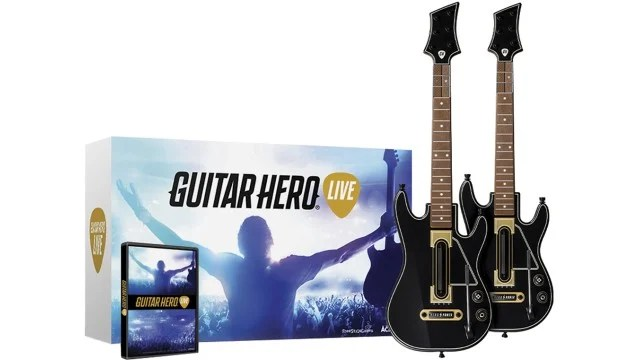 Get a new Guitar Hero Live controller twin pack.