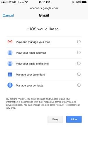 Google Calendar on iPhone