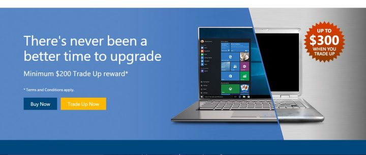 Microsoft Easy Trade Up WIndows 10 Deal