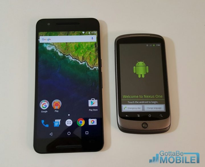 Nexus 6P (2015) vs Original Nexus One (2010)
