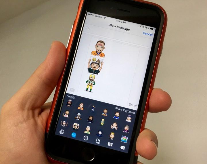 Send NFL emoji to taunt friends in Fantasy Football.