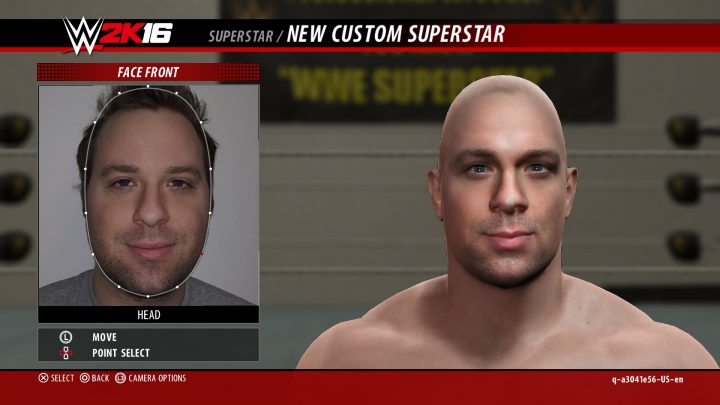 Upload your face or a logo to WWE 2K16.