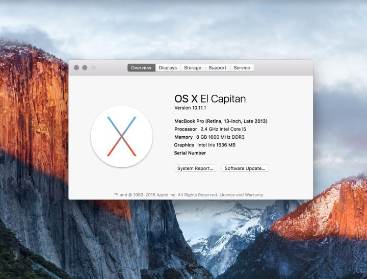 Here's what's new in OS X 10.11.1.