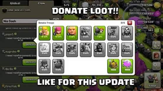 Donate Loot & Gems