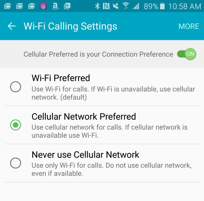 galaxy note 5 wi-fi calling
