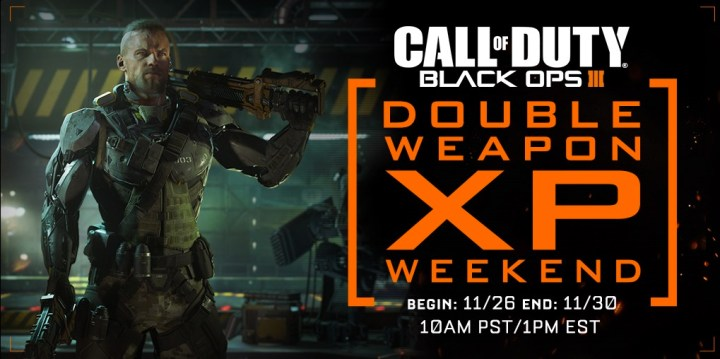 Use this special Black Ops 3 Double XP weekend event to earn Double Weapons XP.