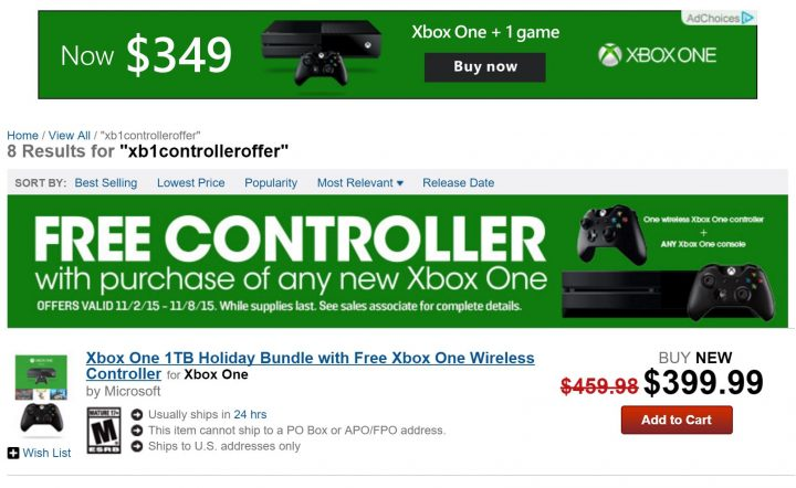 GameStop Xbox One Deal