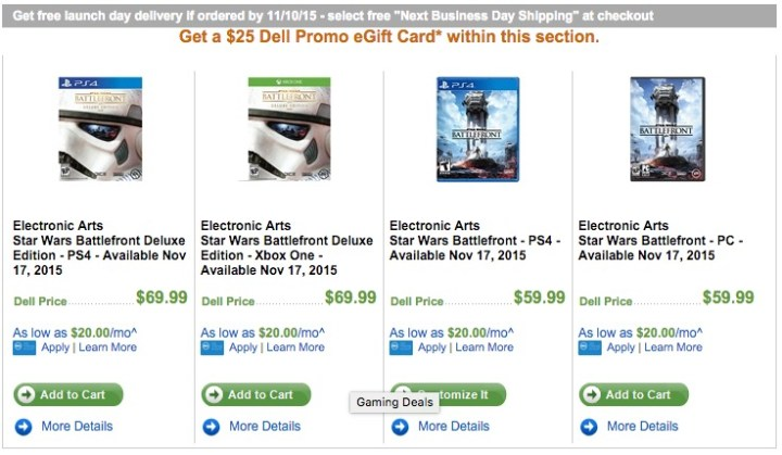 Score $25 off with this Star Wars: Battlefront deal.