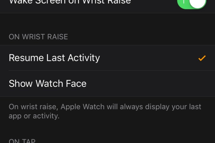 how to turn off raise to wake on iphone