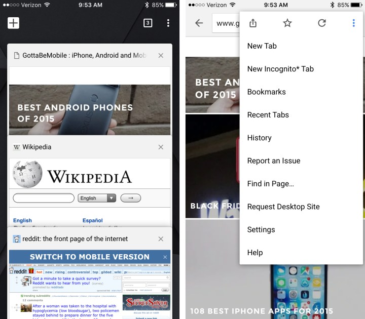 iPhone Web Browser Comparison: Safari vs Chrome vs Firefox