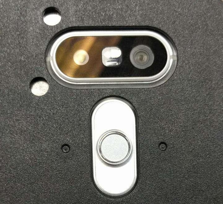 Back of the LG G5 hiding under a protective case