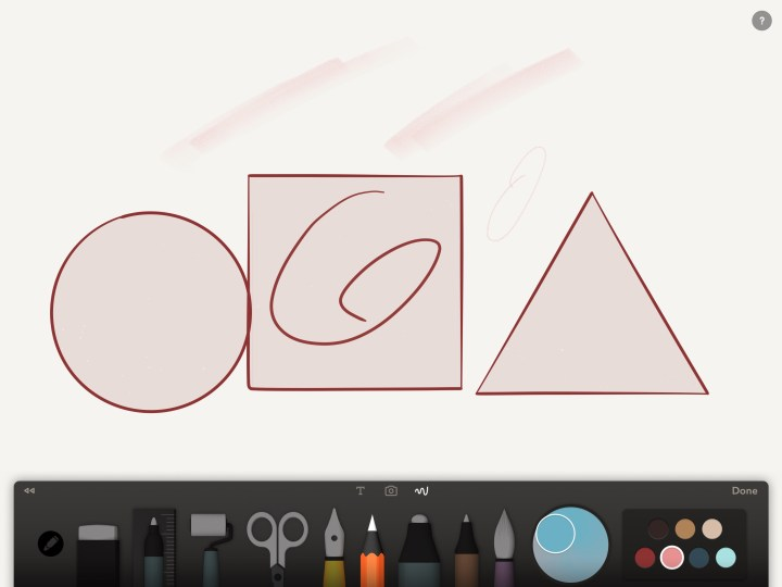 paper by fiftythree helps pencil users create perfect shapes