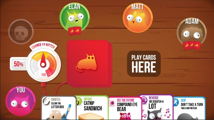 We are still waiting for an Exploding Kittens Android release date.