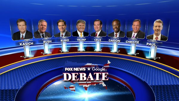 Fox News Debate Lineup