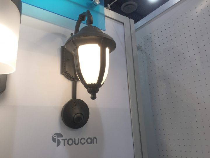 Kuna toucan security cam spices up existing porch lights haomiao huang co founder of kuna says that replacing a light fixture is really easy but if you have a porch light fixture that you really like aloadofball Gallery