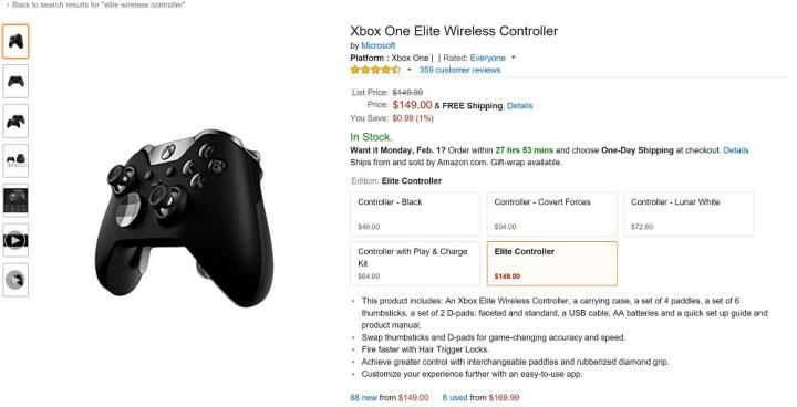 xbox one elite wireless controller amazon
