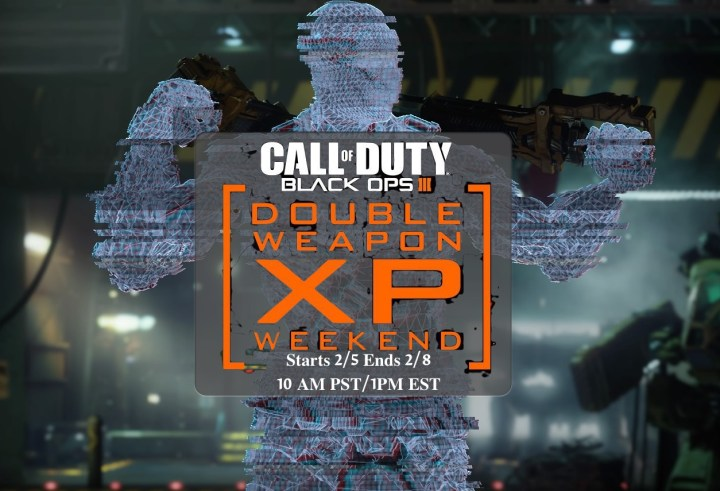 What you need to know about the February Black Ops 3 Double XP weekend event that delivers Double Weapons XP.