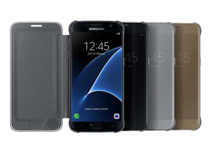 Galaxy S7 Edge S-View Flip Cover (Clear)