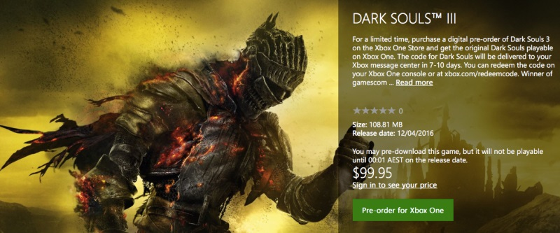Dark Souls for Xbox One Backwards Compatibility Confirmed