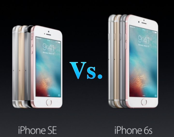 Comparaison se vs iphone 6s