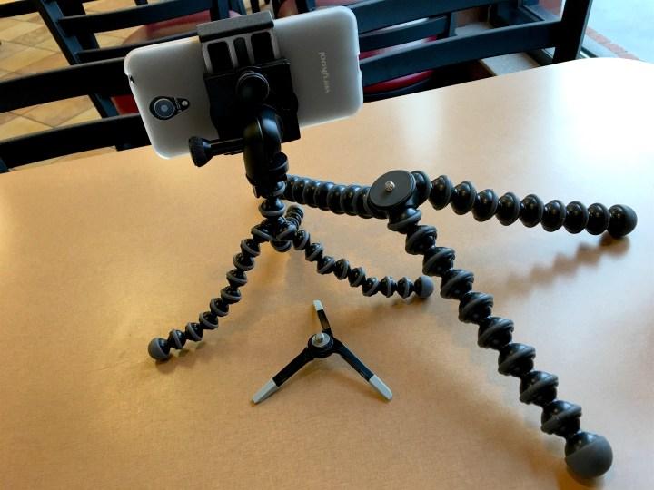 The GripTight Pro with three Joby tripod solutions. The GorillaPod Pro, MIcro tripod and GorillaPod Magnetic.