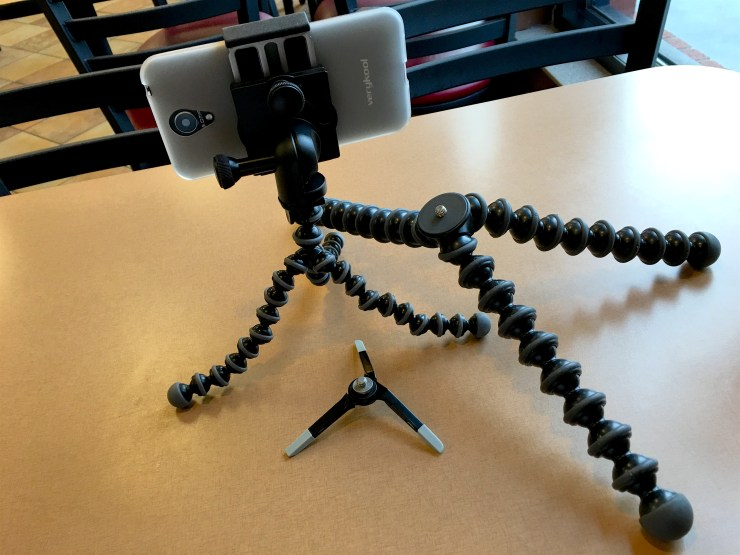The GripTight Pro with three Joby tripod solutions. The GorillaPod Pro, MIcro tripod and GorillaPod Magnetic.