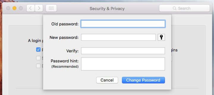 Set Up a Login Password