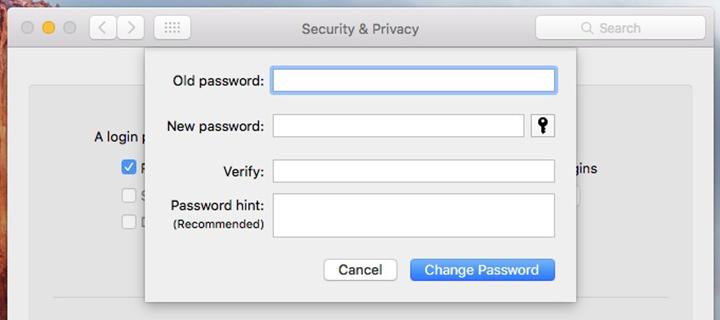 Set Up a Login Password