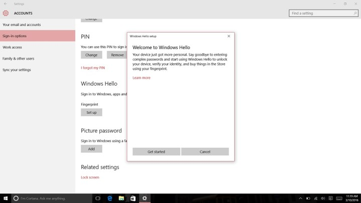 How to Login to Windows 10 with Your Finger (7)