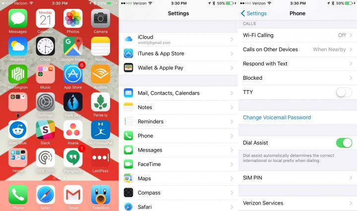 verizon iphone wifi calling how do you set up voicemail on iphone 6 verizon howsto co 16401