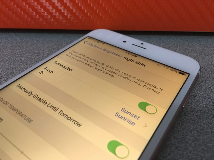 What is Night Shift in iOS 9.3 explained.