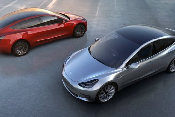 The Tesla Model 3 design is striking.