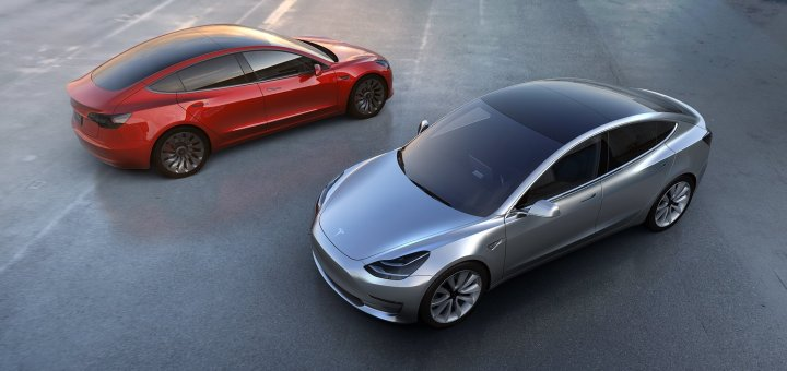 The Tesla Model 3 design is striking.