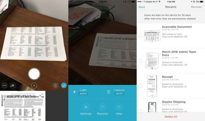 evernote-scannable iphone scanner apps