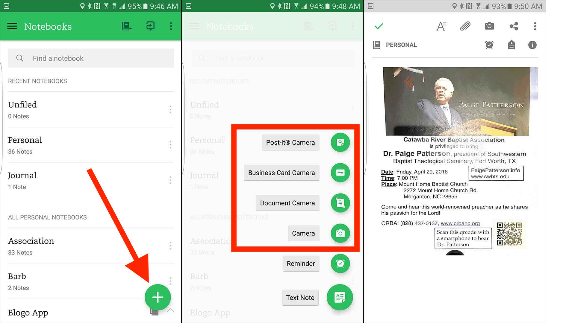 5 best scanner apps for android to go paperless open evernote and tap on the plus icon to bring up the new note menu reheart