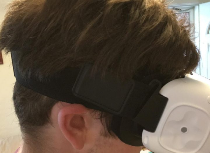The Gear VR straps are too close to the ears.