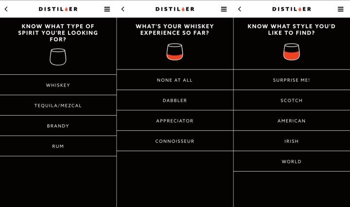 Find a new drink with Distiller.
